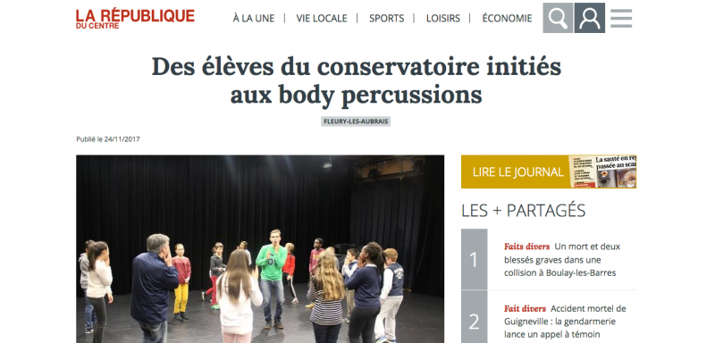 Article La République du centre - Bodysong